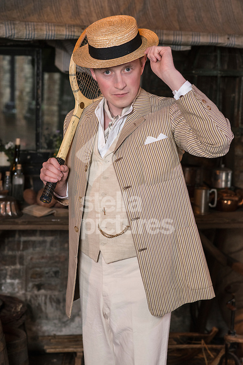 Max Krupski acts as 'Mr Spencer Gore' at Stella Timehop.<br /> Picture by Daniel Hambury/Stella Pictures Ltd +44 7813 022858<br /> 05/07/2016