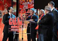 20120227: LISBON, PORTUGAL - SL Benfica 108th anniversary gala at Coliseu dos Recreios in Lisbon, Portugal.<br /> In photo: Luis Filipe Vieira, Futre and Ricardo Araujo Pereira.<br /> PHOTO: Alvaro Isidoro/CITYFILES
