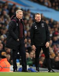 West Ham United manager David Moyes (left) and assistant manager Stuart Pearce
