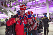 America fans during the 2018 Winter Olympic Games Opening Ceremony at Pyeongchang Olympic Stadium  on 9th February 2018 in Pyeongchang, South Korea