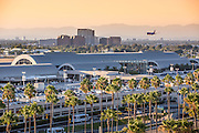 Southwest Airplane Approaching the John Wayne Airport Orange County California