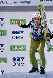 AMMANN Simon, RG Churfirsten, SUI  celebrates after winning the Flying Hill Individual Race at 3rd day of FIS Ski Flying World Championships Planica 2010, on March 20, 2010, Planica, Slovenia.  (Photo by Vid Ponikvar / Sportida)
