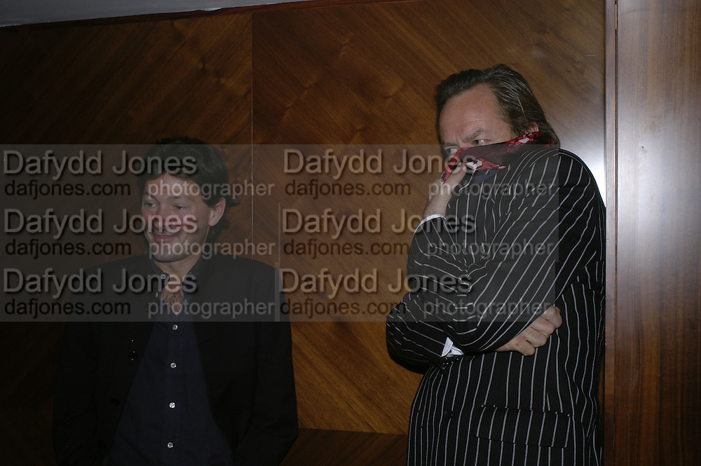 Pete Clayton and Nick Alvis-Vega, The 25th hour post party at the Plaza on the River, 18 Albert Embankment. Culmination of the 24 Hour Plays Celebrity Gala at the Old Vic.London. 8 October 2006.  -DO NOT ARCHIVE-© Copyright Photograph by Dafydd Jones 66 Stockwell Park Rd. London SW9 0DA Tel 020 7733 0108 www.dafjones.com