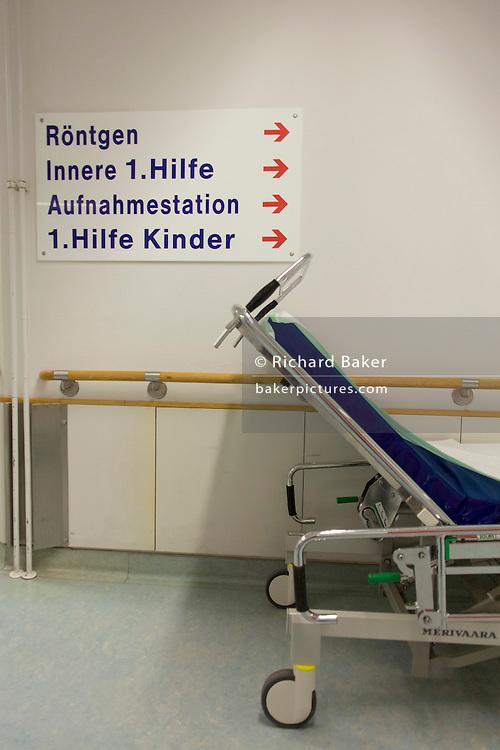 Corridor, Deutsches Rotes Kreuz (DRK - German Red Cross) Hospital, Berlin, Germany.