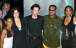 Oct 27, 2003; Los Angeles, California, USA; Matrix Cast JADA PINKETT-SMITH, CARRIE-ANNE MOSS, KEANU REEVES, LAURENCE FISHBURNE & NONA GAYE at the 'Matrix Revolutions' World Premiere held at the Walt Disney Concert Hall..  (Credit Image: Lisa O'Connor/ZUMAPRESS.com)