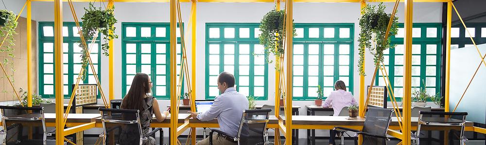 August 22, 2019: Esencialmente Coworking Space (Credit Image: © La Nacion via ZUMA Press)