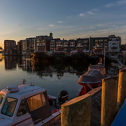 The Piscataqua River and Portsmouth., New Hampshire waterfront.