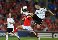 Marko Arnautovic of Austria in action. Wales v Austria , FIFA World Cup qualifier , European group D match at the Cardiff city Stadium in Cardiff , South Wales on Saturday 2nd September 2017. pic by Andrew Orchard, Andrew Orchard sports photography