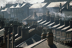 View of rooftops of terraced housing,
