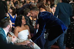 Michael B. Jordan and Regina King, Oscar® winner, talk during the live ABC Telecast of The 91st Oscars® at the Dolby® Theatre in Hollywood, CA on Sunday, February 24, 2019.