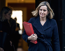 © Licensed to London News Pictures. 08/01/2019. London, UK. Secretary of State for Work and Pensions Amber Rudd leaves 10 Downing Street. Photo credit: Rob Pinney/LNP