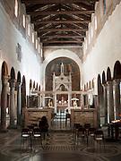 Interior of Santa Maria In Cosmedin, Rome, Italy.