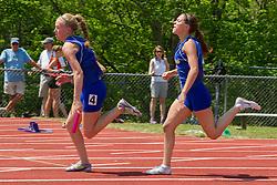 girls 4x 100 meter relay exchange, Maine State Track & FIeld Meet - Class B