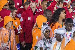 21-08-2016 BRA: Olympic Games day 22, Rio de Janeiro<br /> Rio neemt afscheid van de Olympische Spelen, sluitingsceremonie met veel dans, muziek en saaiheid / Dafne Schippers, Celeste Plak