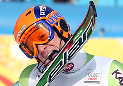 Bernard Vajdic after the 9th men's slalom race of Audi FIS Ski World Cup, Pokal Vitranc,  in Podkoren, Kranjska Gora, Slovenia, on March 1, 2009. (Photo by Vid Ponikvar / Sportida)