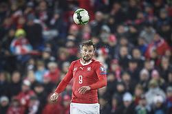November 12, 2017 - Basel, Schweiz - Basel, 12.11.2017, Fussball WM Qualifikation Playoff - Schweiz - Nordirland, Haris Seferovic (SUI) (Credit Image: © Melanie Duchene/EQ Images via ZUMA Press)