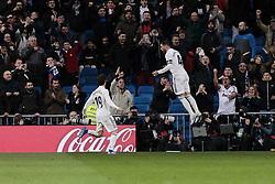 January 24, 2019 - Madrid, Spain - Real Madrid's Alvaro Odriozola (L) and Sergio Ramos (R) during Copa del Rey match between Real Madrid and Girona FC at Santiago Bernabeu Stadium. (Credit Image: © Legan P. Mace/SOPA Images via ZUMA Wire)