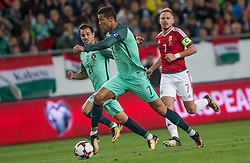 September 3, 2017 - Budapest, Hungary - Cristiano Ronaldo (L) of Portugal in action with Balazs Dzsudzsák (R) of Hungary during the World Cup qualification match between Hungary and Portugal at Groupama Arena on Nov 03, 2017 in Budapest, Hungary. (Credit Image: © Robert Szaniszlo/NurPhoto via ZUMA Press)