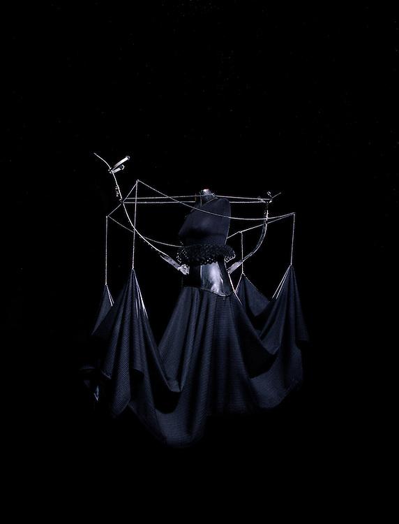 Conceptual dress on display
