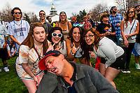 420 Cannabis Culture Music Festival, Civic Center Park, Downtown Denver, Colorado USA.