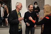 MARTIN PARR; SIMON BAKER; BRETT ROGERS Opening of the Martin Parr Foundation party,  Martin Parr Foundation, 316 Paintworks, Bristol, BS4 3 EH  20 October 2017