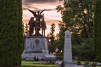 Medal of Honor Memorial (foreground), POW-MIA Memorial (middle) & Winged Victory Monument