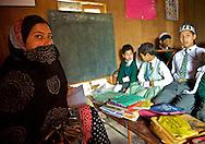 A language teacher and her class.