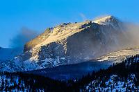 12,713 ft. Hallett Peak along the Continental Divide.  Rocky Mountain National Park, Colorado.