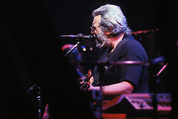 Jerry Garcia performing with the Grateful Dead in Concert at the Brendan Bryne Arena on April 1st 1988
