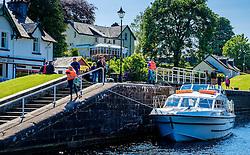 Vessels negotiating the locks on the Caledonian Canal at Fort Augustus, Scotland<br /> <br /> (c) Andrew Wilson | Edinburgh Elite media