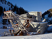 Historic Yankee Fork Gold Dredge which operated until the 1950s, Yankee Fork State Park, Challis National Forest, Idaho.