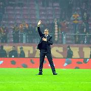 Galatasaray's Coach Hamza Hamzaoglu during their Ziraat Turkey CUP soccer match Galatasaray between Eskisehirspor at the AliSamiYen TT Arena at Seyrantepe in Istanbul Turkey on Wednesday, 03 December 2014. Photo by Kurtulus YILMAZ/TURKPIX