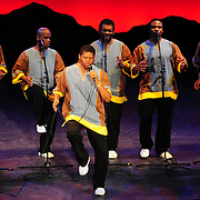 Ladysmith Black Mambazo member Thamsanqa Shabalala (C)  performing at The Music Hall, Portsmouth, NH