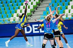 Nocandy Meline of Metz Handball (FRA)  during handball match between RK Krim Mercator (SLO) vs Metz Handball  (FRA) in DELO EHF Women's Champions League 2020/21, on January 16, 2021 in SRC Stozice, Ljubljana, Slovenia. Photo by Grega Valancic / Sportida