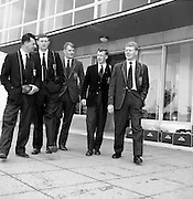 Irish Rugby Football Union, Irish team departs from Dublin airport for South African tour, Dublin, Ireland, 8th May, 1961,.8.5.1961, 5.8.1961,.