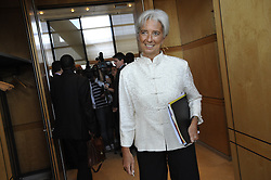 File Photo - French Minister for the Economy, Finance and Employment Christine Lagarde is seen at ministry in Paris, France on September 29, 2009. The European Council announced Tuesday that Lagarde, the current head of the International Monetary Fund, had been chosen to succeed Mario Draghi as president of the European Central Bank,, whose eight-year term ends in October. Photo by Elodie Gregoire/ABACAPRESS.COM