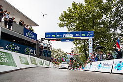 Tadej POGACAR of UAE TEAM EMIRATES celebrates victory during 2nd Stage of 27th Tour of Slovenia 2021 cycling race between Zalec and Celje (147 km), on June 10, 2021 in Slovenia. Photo by Matic Klansek Velej / Sportida