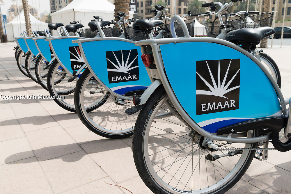 New bicycle hire service sponsored by property developer Emaar in Dubai United Arab Emirates