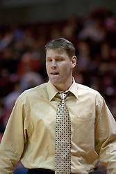 11 December 2004<br /> <br /> Redbird Head Coach Porter Moser<br /> <br /> ISU Redbirds V Marshall Thundering Herd NCAA Men's Basketball.  Redbird Arena, Illinois State University, Normal IL