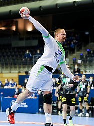 Matej Gaber of Slovenia during handball match between National Teams of Germany and Slovenia at Day 2 of IHF Men's Tokyo Olympic  Qualification tournament, on March 13, 2021 in Max-Schmeling-Halle, Berlin, Germany. Photo by Vid Ponikvar / Sportida