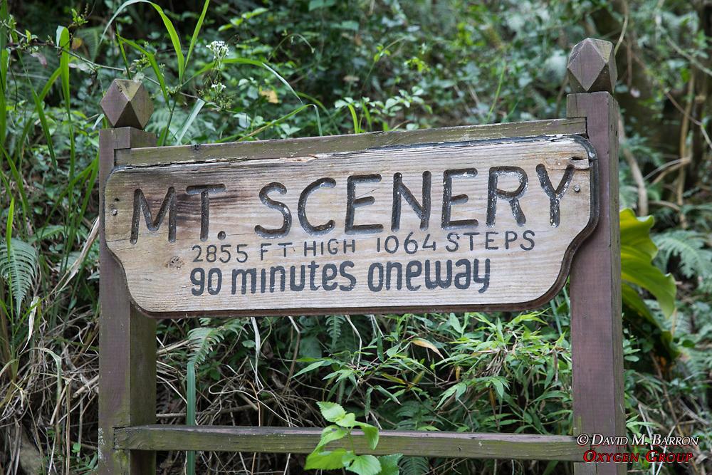 MT. Scenery Sign
