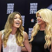 MON/Monaco/20140527 -World Music Awards 2014, Victoria Silvstedt and her sister Marietta