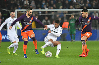 Football - 2018 / 2019 Emirates FA Cup - Quarter-Final: Swansea City vs. Manchester City<br /> <br /> Wayne Routledge on the attack, at The Liberty Stadium.<br /> <br /> COLORSPORT/WINSTON BYNORTH