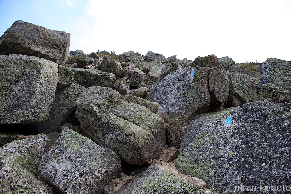 Switch backs are apparently disregarded in Maine. It's basically just straight up the mountain, boulders be damned.
