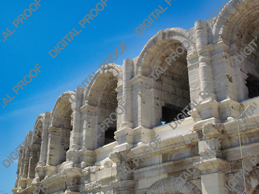 Roman amphitheatre of Arles at the south of france during daytime.
