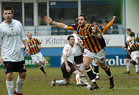 Photo: Leigh Quinnell.<br /> Luton Town v Hull City. Coca Cola Championship. 04/02/2006. Hull Jon Parkin celebrates scoring Hulls third goal.