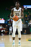 WACO, TX - DECEMBER 17: Johnathan Motley #35 of the Baylor Bears shoots a free-throw against the New Mexico State Aggies on December 17, 2014 at the Ferrell Center in Waco, Texas.  (Photo by Cooper Neill/Getty Images) *** Local Caption *** Johnathan Motley