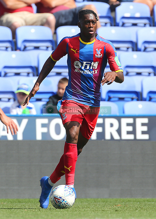 """Crystal Palaces Aaron Wan-Bissaka during the pre-season friendly match at the Madejski Stadium, Reading. PRESS ASSOCIATION Photo. Picture date: Saturday July 28, 2018. See PA story SOCCER Reading. Photo credit should read: Mark Kerton/PA Wire. RESTRICTIONS: EDITORIAL USE ONLY No use with unauthorised audio, video, data, fixture lists, club/league logos or """"live"""" services. Online in-match use limited to 75 images, no video emulation. No use in betting, games or single club/league/player publications."""