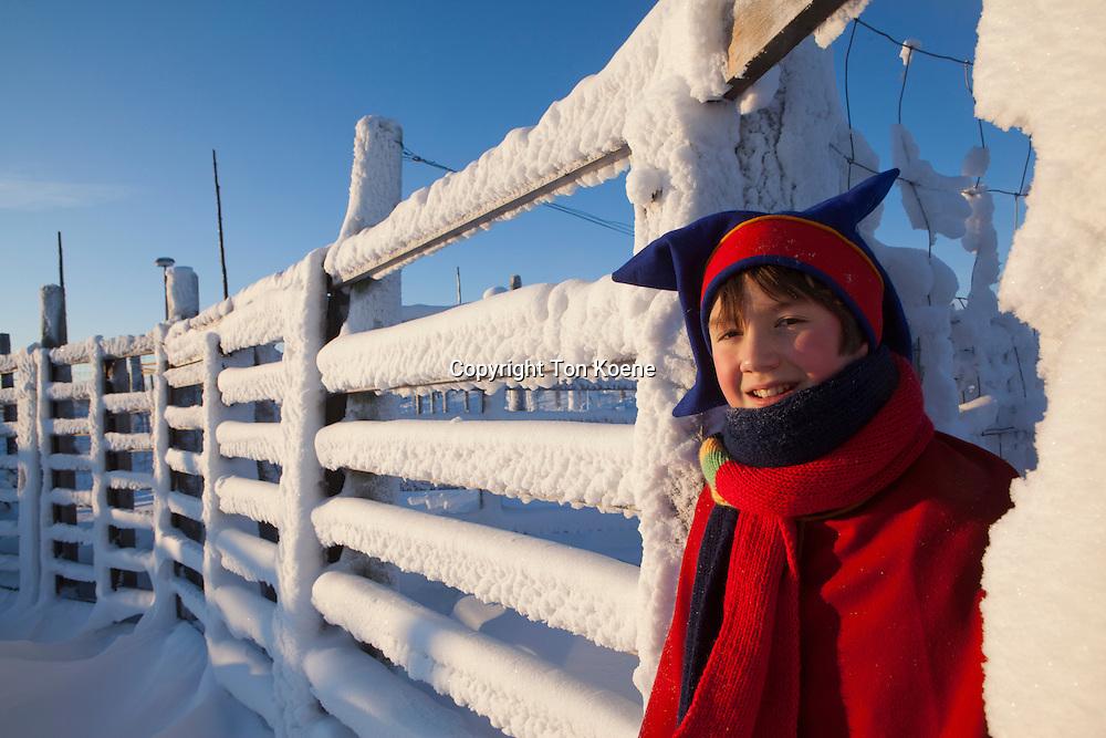sami boy in lapland (Finland)