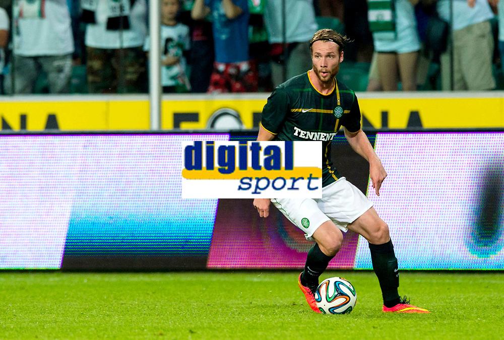 30/07/14 UEFA CHAMPIONS LEAGUE THIRD ROUND QUALIFIER FIRST LEG<br /> LEGIA WARSAW V CELTIC<br /> PEPSI ARENA - WARSAW<br /> Inge Jo Berget makes his debut for Celtic.